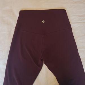 "lululemon athletica Pants - ❌SOLD ON DEPOP❌ Lululemon Align Crop 23"" Maroon 4"